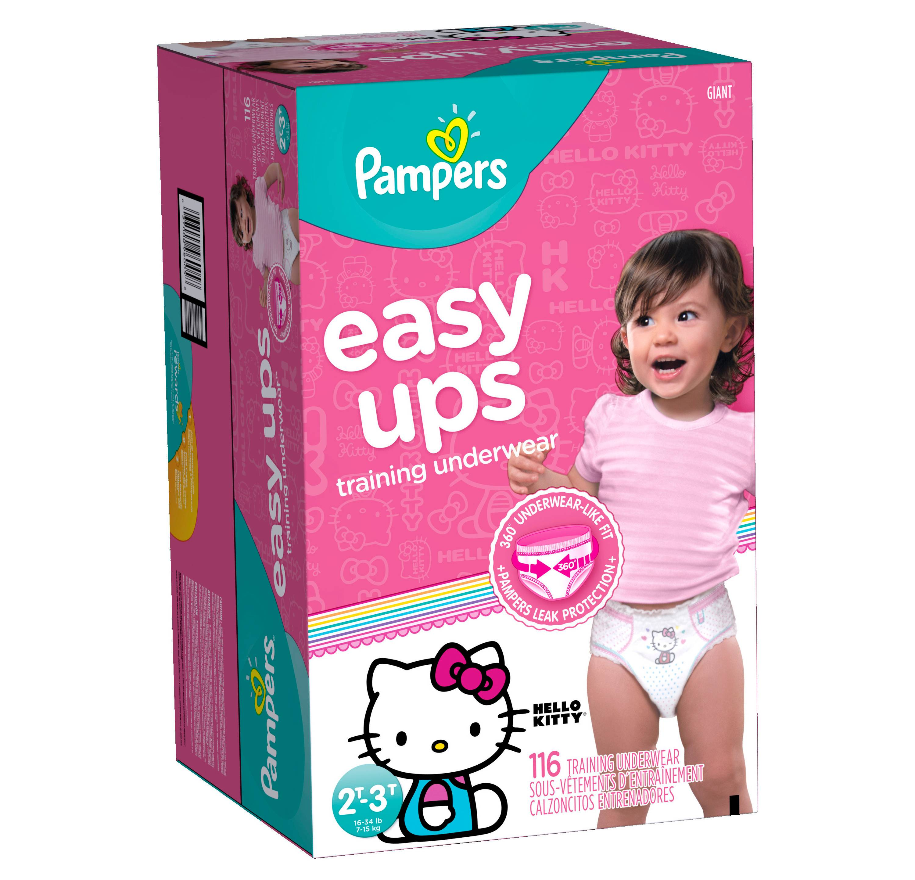 Pampers Easy Ups Girls Training Pants Giant Pack 2t 3t
